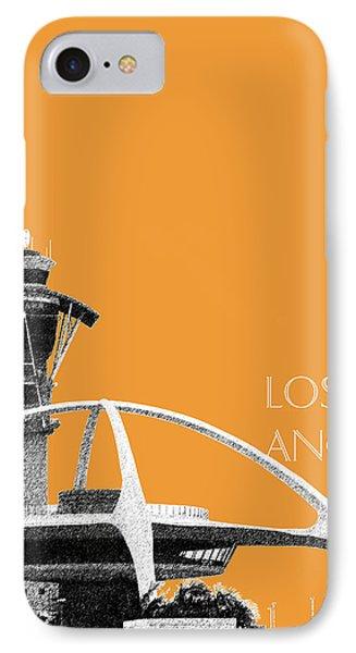 Los Angeles Skyline Lax Spider - Orange IPhone Case by DB Artist