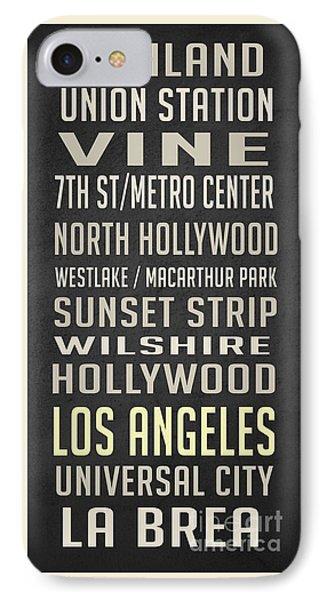 Los Angeles Vintage Places Poster IPhone Case