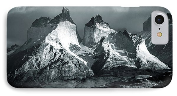 IPhone Case featuring the photograph Los Cuernos In Black And White by Andrew Matwijec