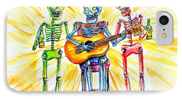 IPhone Case featuring the painting Los Tres Cantantes by Heather Calderon