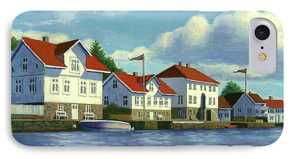 Loshavn Village Norway IPhone Case by Janet King