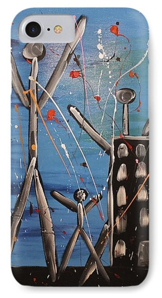 IPhone Case featuring the painting Lost Cities 13-003 by Mario Perron