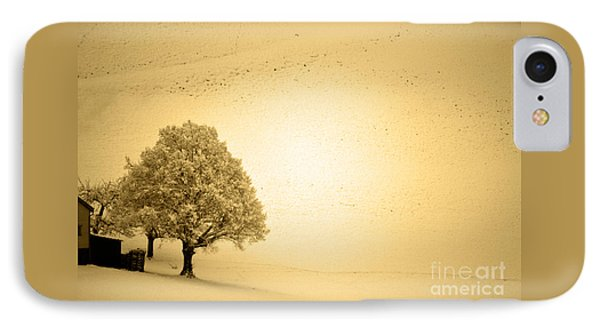 IPhone Case featuring the photograph Lost In Snow - Winter In Switzerland by Susanne Van Hulst