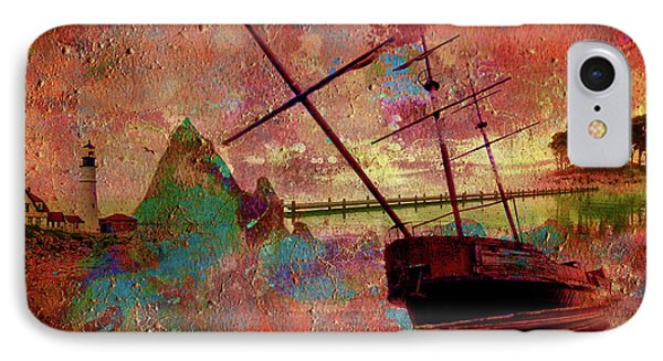 IPhone Case featuring the digital art Lost Island by Greg Sharpe