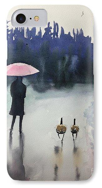 Walk In The Rain IPhone Case