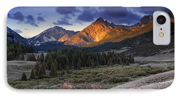 Lost River Mountains Moon IPhone Case by Leland D Howard
