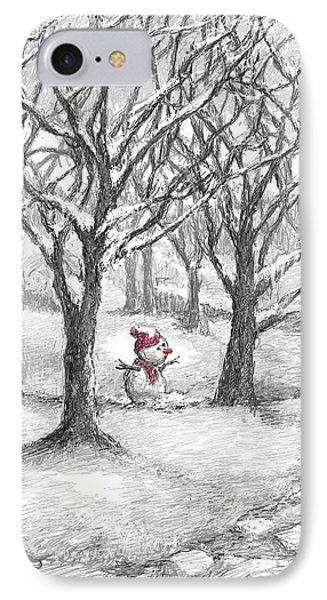 Lost Snowman IPhone Case