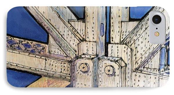 Lost To Demolition, Bay Bridge IPhone Case by Bill Jeng