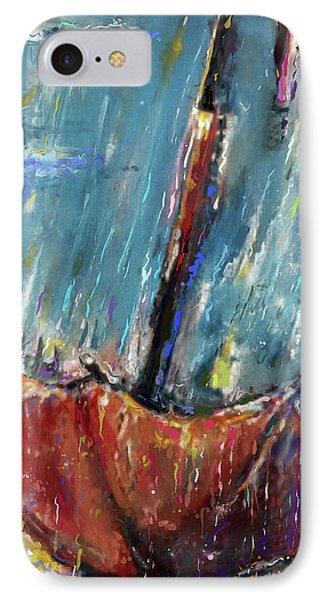 Lost Umbrella IPhone Case by Mark Tonelli