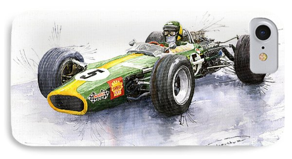 Lotus 49 Ford F1 Jim Clark IPhone Case by Yuriy  Shevchuk