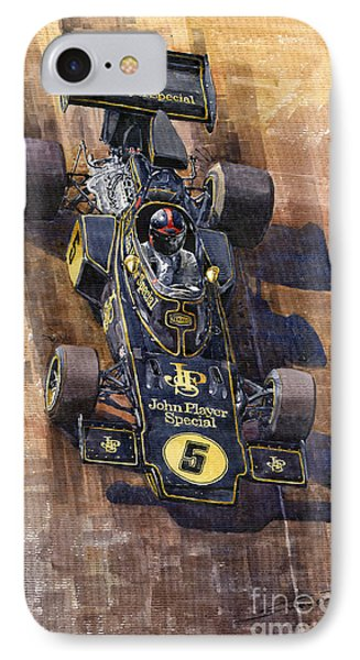 Lotus 72 Canadian Gp 1972 Emerson Fittipaldi  IPhone Case by Yuriy  Shevchuk