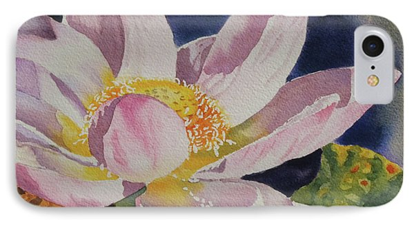 IPhone Case featuring the painting Lotus Bloom by Mary Haley-Rocks