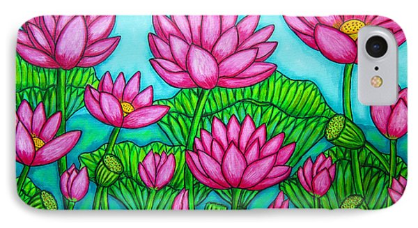Lotus Bliss II Phone Case by Lisa  Lorenz