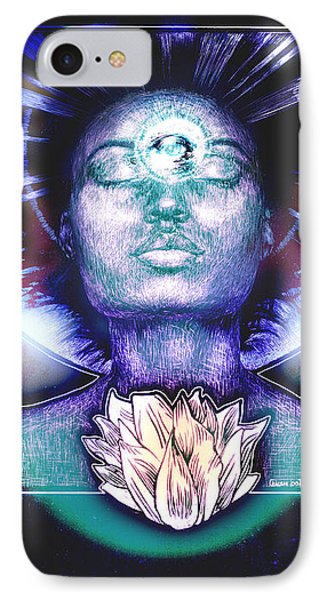 IPhone Case featuring the painting Lotus Bloom by Ragen Mendenhall