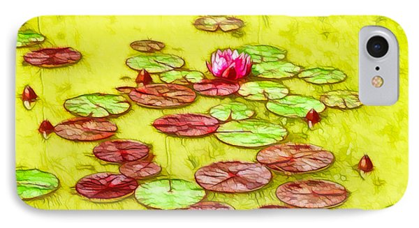 Lotus Flower On The Water 2 Phone Case by Lanjee Chee