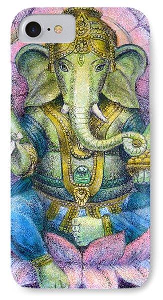 Elephant iPhone 7 Case - Lotus Ganesha by Sue Halstenberg