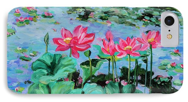 Lotus IPhone Case by Alexandra Maria Ethlyn Cheshire