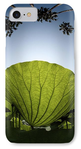 IPhone Case featuring the photograph Lotus Leaf by Harry Spitz