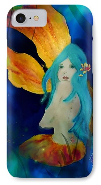 Lotus Mermaid  IPhone Case by ARTography by Pamela Smale Williams