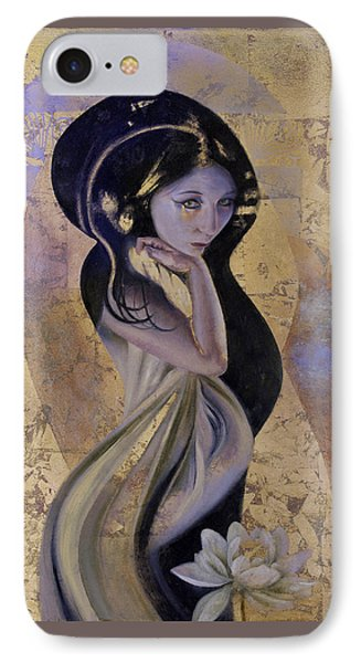 IPhone Case featuring the painting Lotus by Ragen Mendenhall
