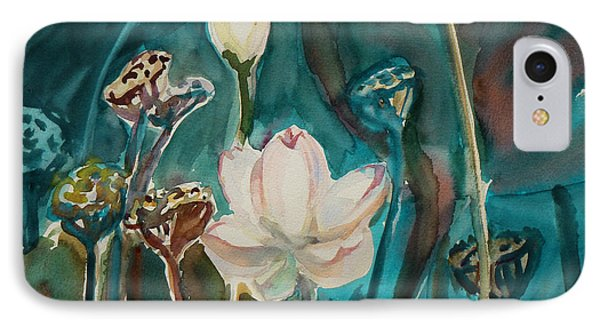 IPhone Case featuring the painting Lotus Study I by Xueling Zou