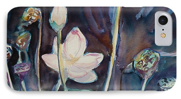 IPhone Case featuring the painting Lotus Study II by Xueling Zou