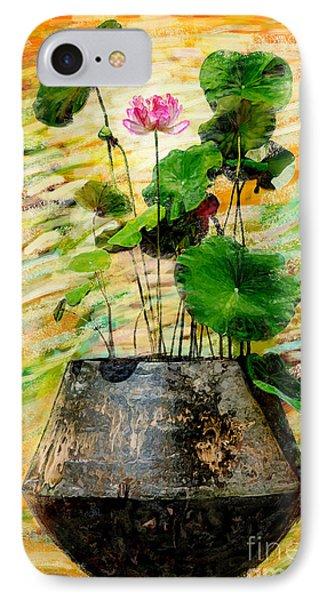 Lotus Tree In Big Jar IPhone Case