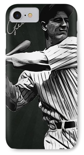 Lou Gehrig IPhone Case by Semih Yurdabak