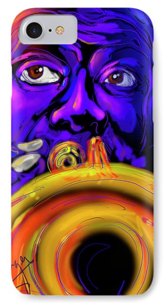 IPhone Case featuring the painting Louie by DC Langer