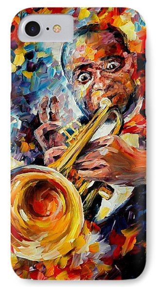 Louis Armstrong Phone Case by Leonid Afremov