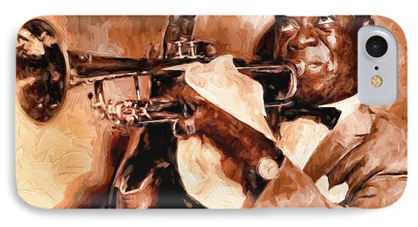 Louis Armstrong IPhone Case by Louis Ferreira