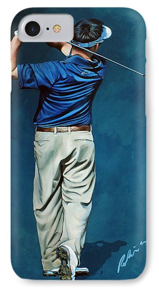 Louis Osthuizen Open Champion 2010 Phone Case by Mark Robinson