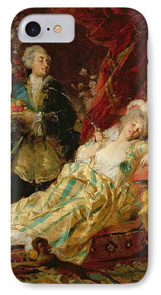 Louis Xv And Madame Dubarry Phone Case by  Gyula Benczur
