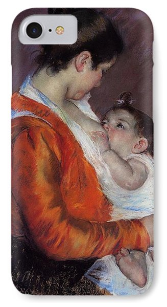 Louise Nursing Her Child Phone Case by Marry Cassatt