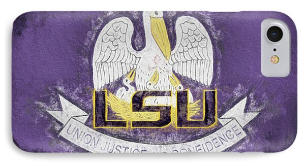 IPhone 7 Case featuring the digital art Louisiana Lsu State Flag by JC Findley