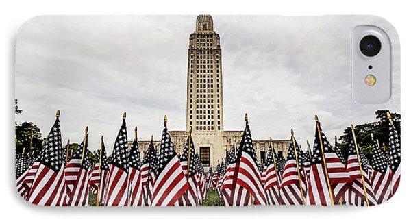 Louisiana State Capitol Dressed For Memorial Day IPhone Case by Scott Pellegrin