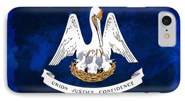 Louisiana State Flag Distressed IPhone Case