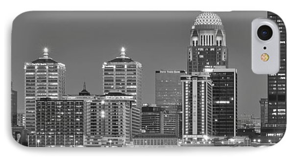 Louisville Black And White Panoramic IPhone Case by Frozen in Time Fine Art Photography