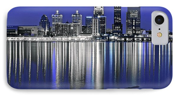 Louisville Blue And Silver IPhone Case by Frozen in Time Fine Art Photography