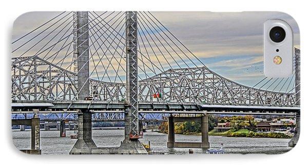 Louisville Bridges Phone Case by Dennis Cox WorldViews