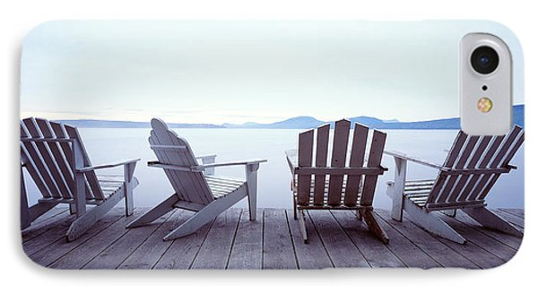 Lounge Chairs Moosehead Lake Me IPhone Case by Panoramic Images