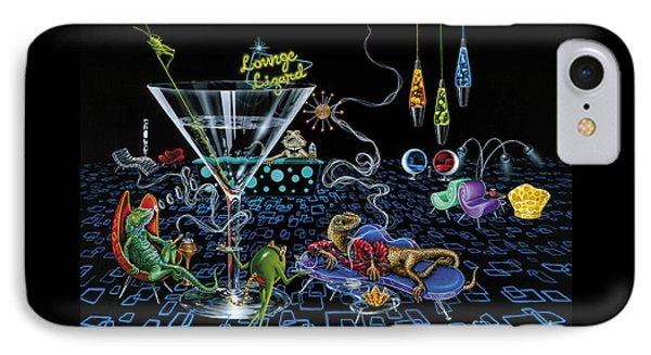 Lounge Lizard IPhone 7 Case by Michael Godard