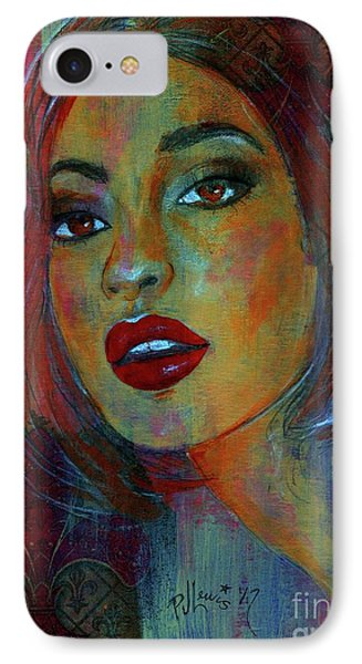 IPhone Case featuring the painting Lourdes At Twilight by P J Lewis