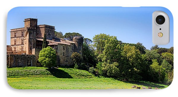 Lourmarin Castle IPhone Case by Olivier Le Queinec
