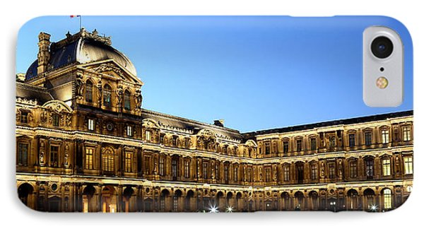 IPhone Case featuring the photograph Louvre At Night 1 by Andrew Fare
