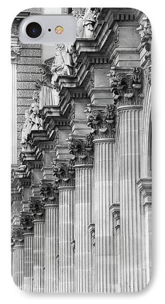 IPhone Case featuring the photograph Louvre Pillars, Paris, 2015 by Hitendra SINKAR