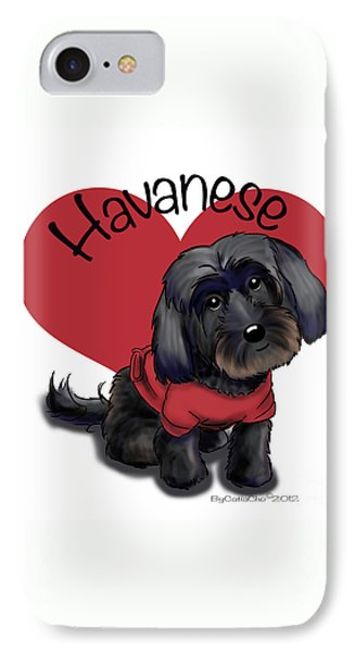 Lovable Black Havanese Phone Case by Catia Cho