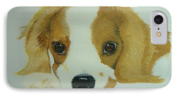 IPhone Case featuring the painting Lovable Puppy by Norm Starks