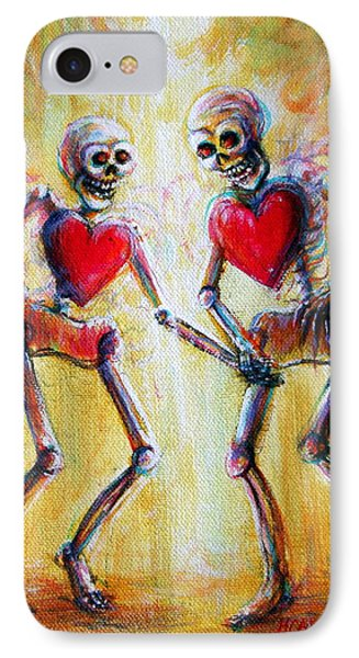 IPhone Case featuring the painting Love 2 Love by Heather Calderon
