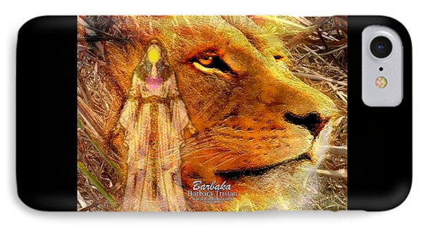 IPhone Case featuring the digital art Love 444 Cecil by Barbara Tristan